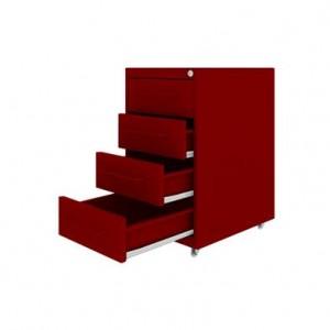 Gaveteiro Premium Flex 4 gavetas - vermelho (Copy)